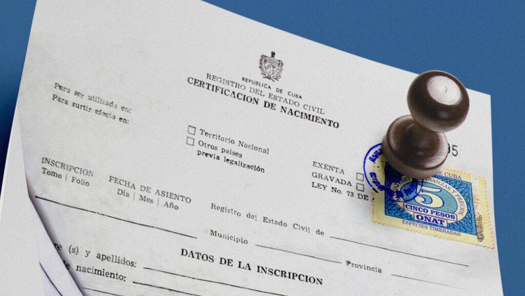 certificado de nacimiento cubano