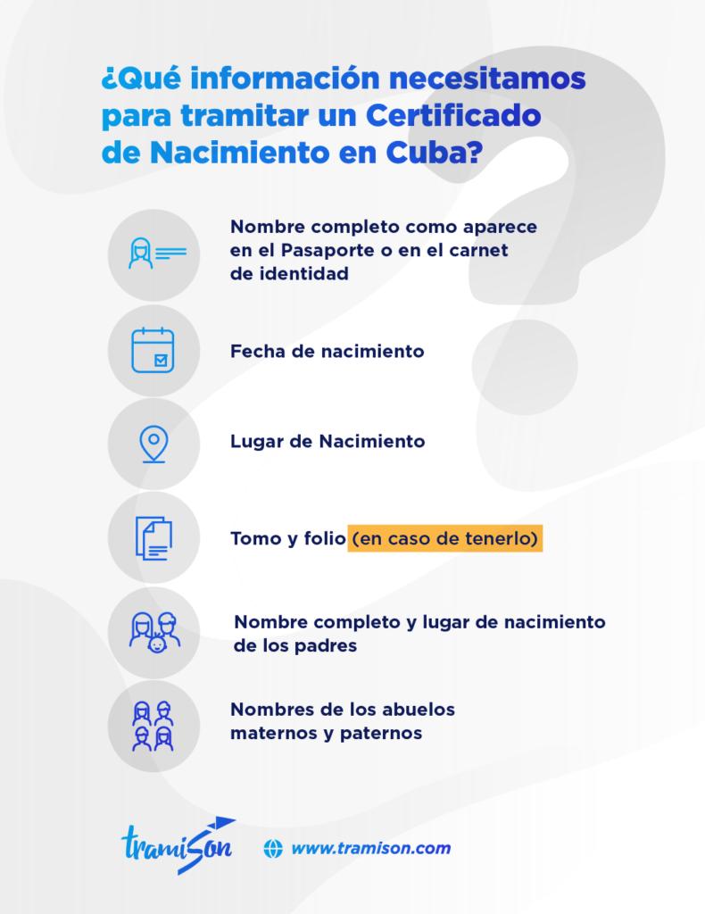 Solicitar certificado de nacimiento cubano